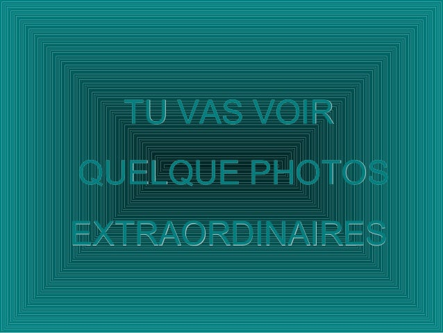 TU VAS VOIRTU VAS VOIR QUELQUE PHOTOSQUELQUE PHOTOS EXTRAORDINAIRESEXTRAORDINAIRES