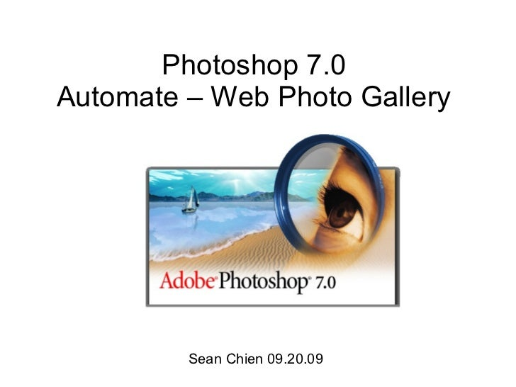 Photoshop 7 Automate Web Photo Gallery