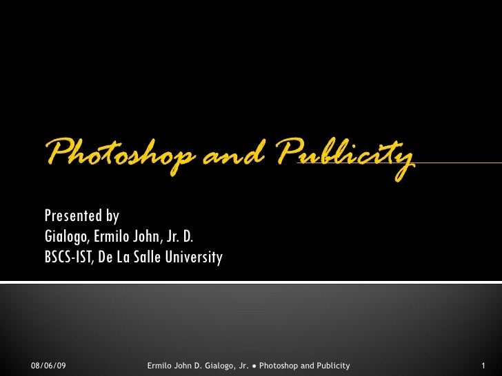 Using Adobe Photoshop For Creating Publicity Materials