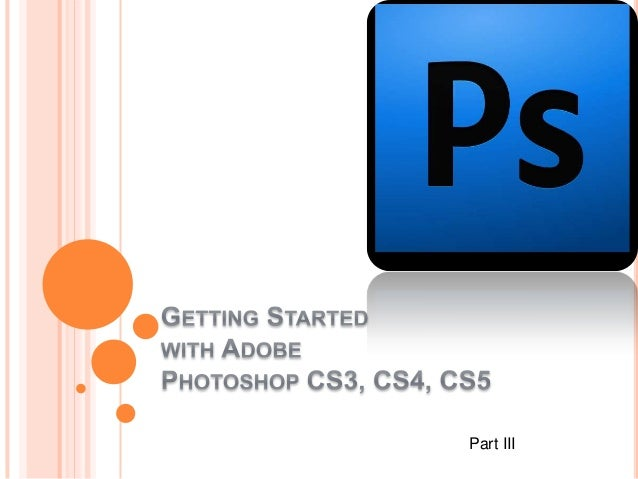 Photoshop getting started part3