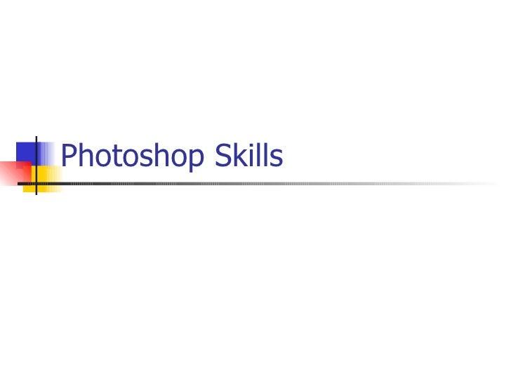Photoshop skills