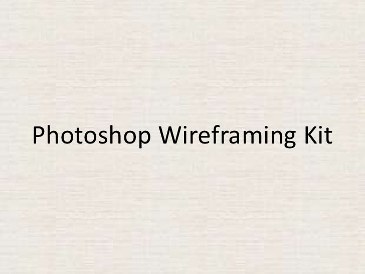 Photoshop Wireframing Kit<br />