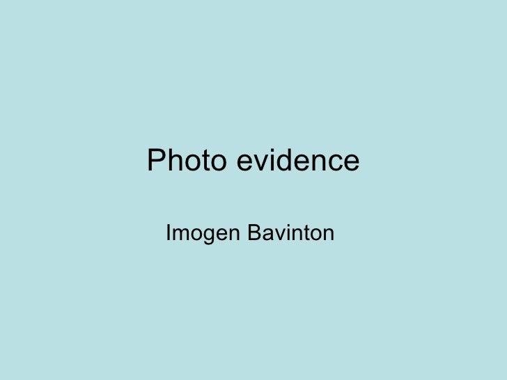 Photo evidence Imogen Bavinton