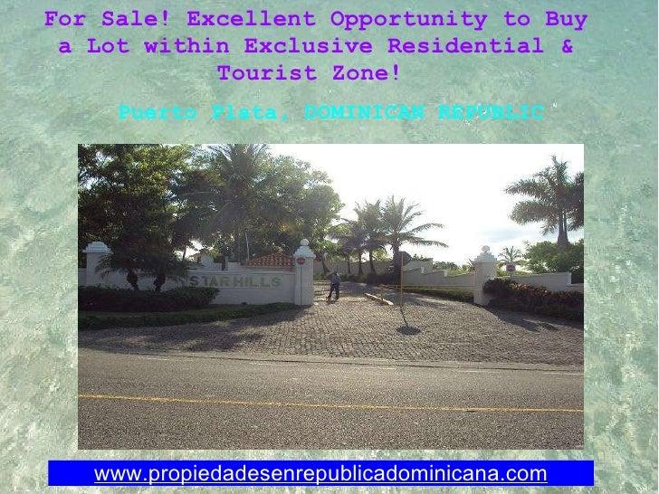 Photos Land on Sale Puerto Plata Dominican Republic.ref.vtshpop101