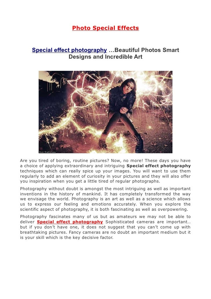 Photography Tricks - Trick Photography and Photo Special Effects
