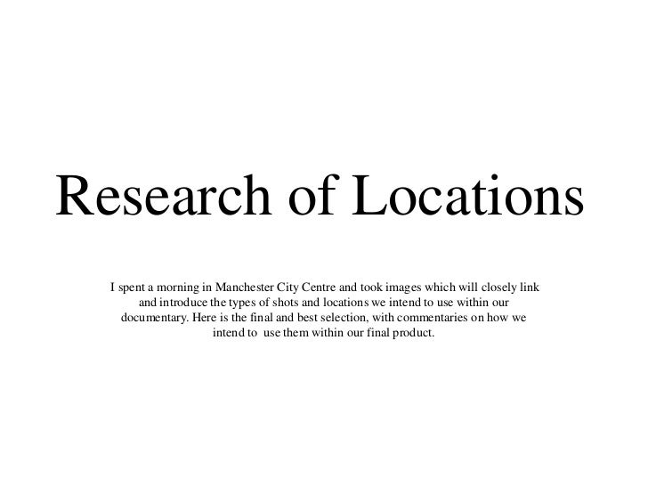 Research of Locations  I spent a morning in Manchester City Centre and took images which will closely link        and intr...