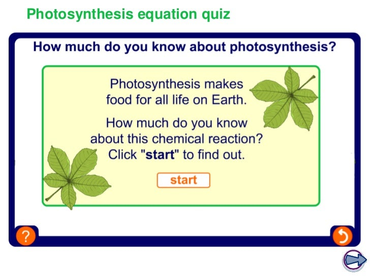 photosynthesis equation The equation for photosynthesis states that the combination of carbon dioxide, water and light energy produces a carbohydrate (glucose) and oxygen.