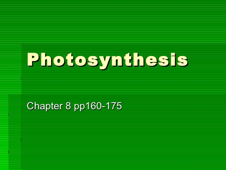 photosythesis 1 But if you're a plant, you'll make your meal through photosynthesis—and all you'll need is a little light, water, and carbon dioxide in this lesson you will.