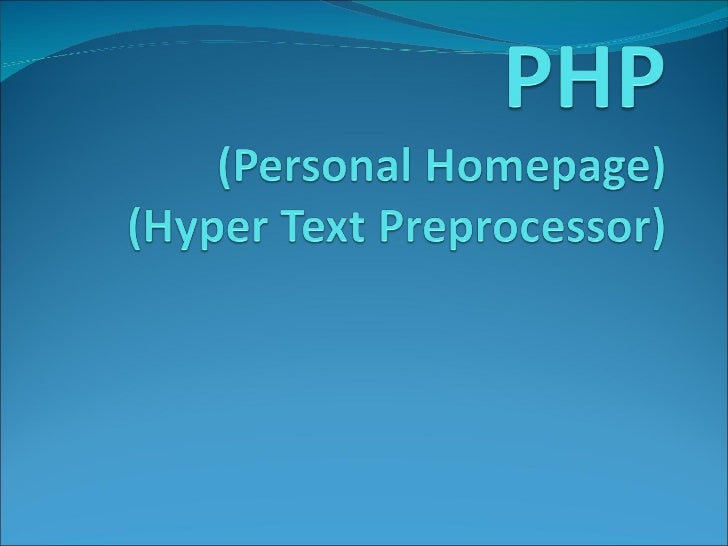 What is PHP?PHP is an HTML-embedded scripting language. The goal of the language is to allow web developers to write dynam...