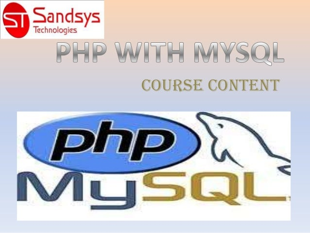PHP WITH MYSQL TRAINING IN HYDERABAD