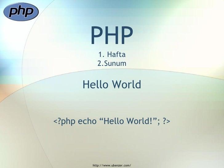 PHP Sunusu - 2