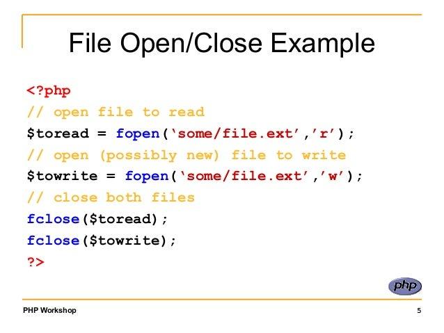 Membuka dan Menutup File dengan code PHP