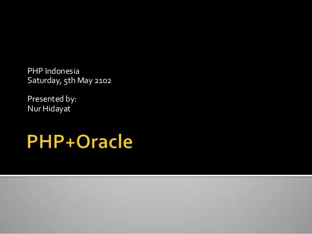 PHP Oracle