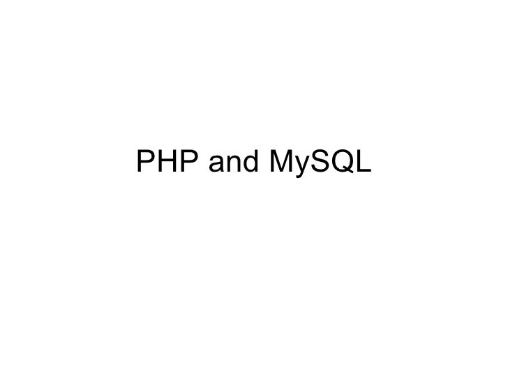 PHP and MySQL PHP Written as a set of CGI binaries in C in ...