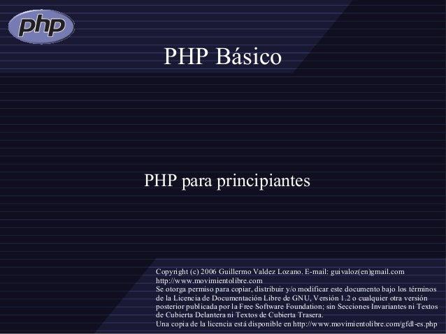 Introducción a Php basico