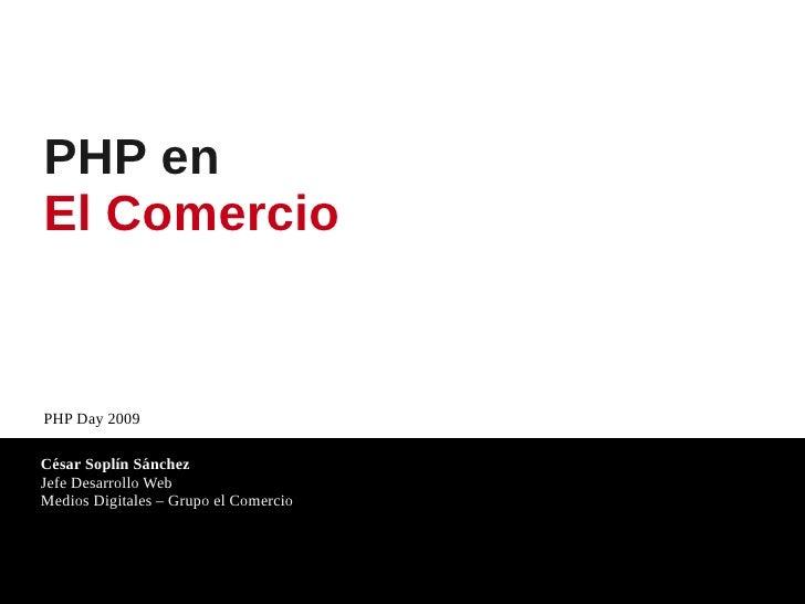 Php en El Comercio