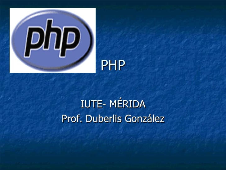 PHP IUTE