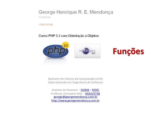PHP 5.3 - Funções