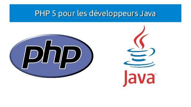 PHP 5 pour les développeurs Java