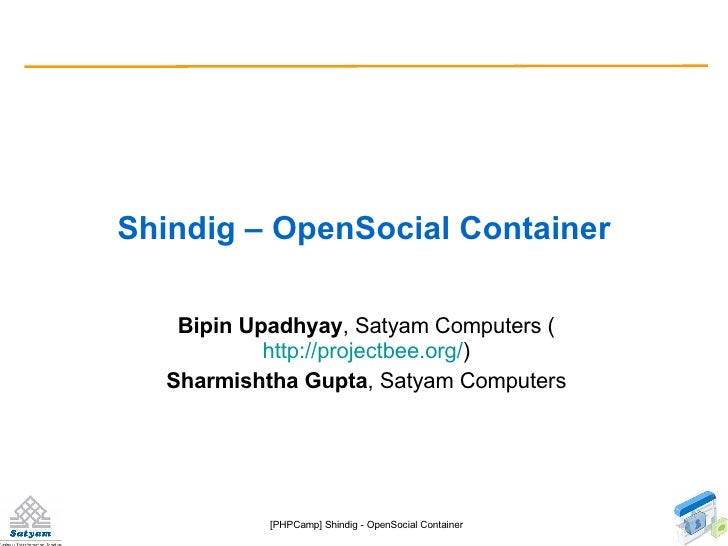 [Phpcamp]Shindig An OpenSocial container