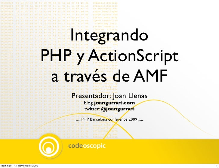 Integrando PHP y ActionScript a través de AMF