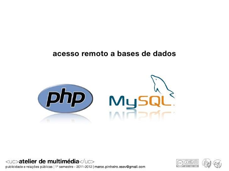acesso remoto a bases de dados
