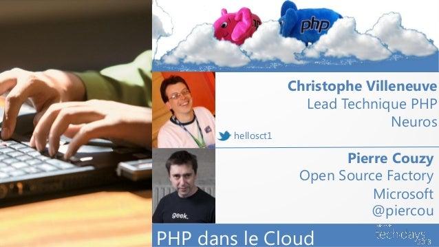 Christophe Villeneuve                                           Lead Technique PHP                                        ...