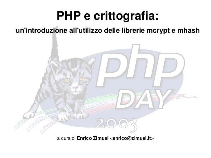 PHP e crittografia
