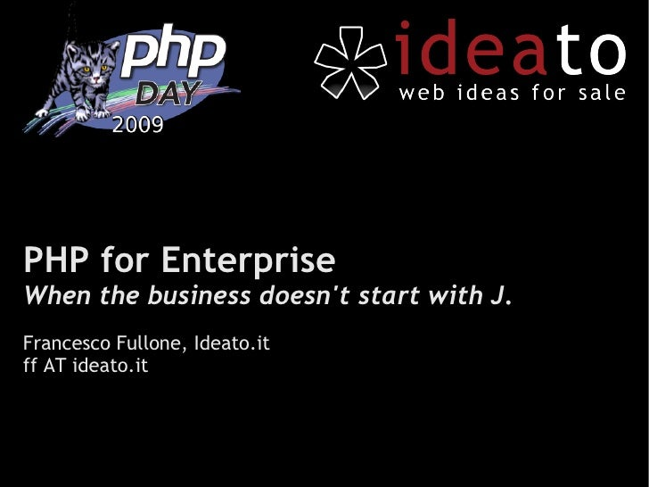 PHP for the Enterprise