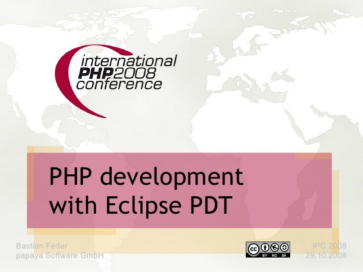 Php Development With Eclipde PDT