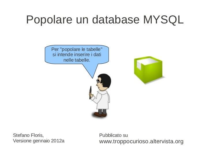 Php e data_base_popolare_un_db_mysql