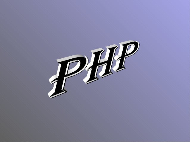 """INTRODUCTION """"PHP is an HTML-embedded scripting language."""" The goal of the language is to allow web developers to write dy..."""