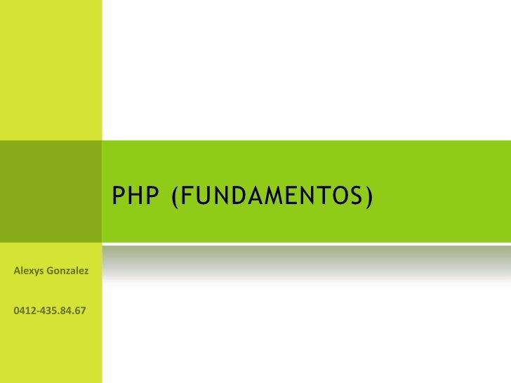 PHP (FUNDAMENTOS)