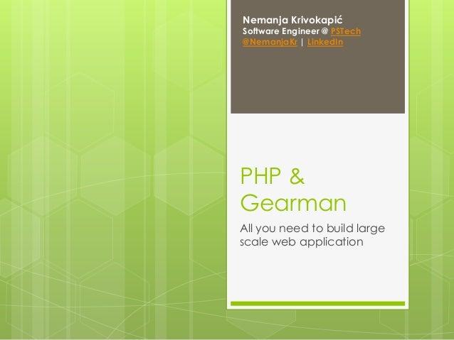 Gearman & PHP