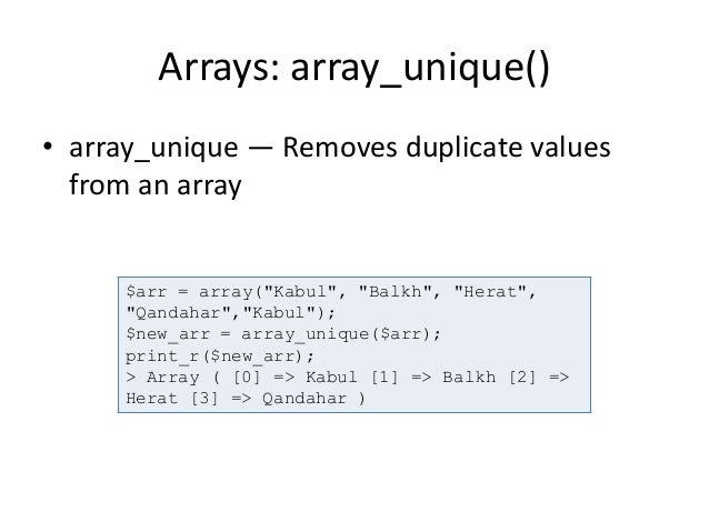 array unique object