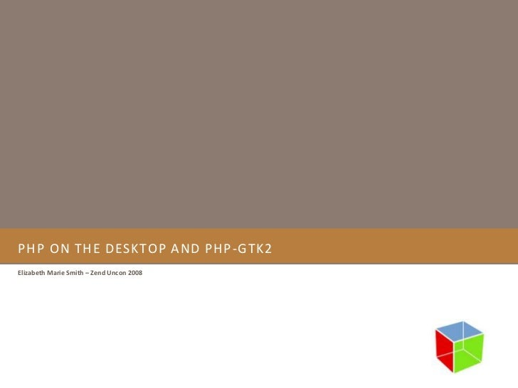Php on the desktop and php gtk2