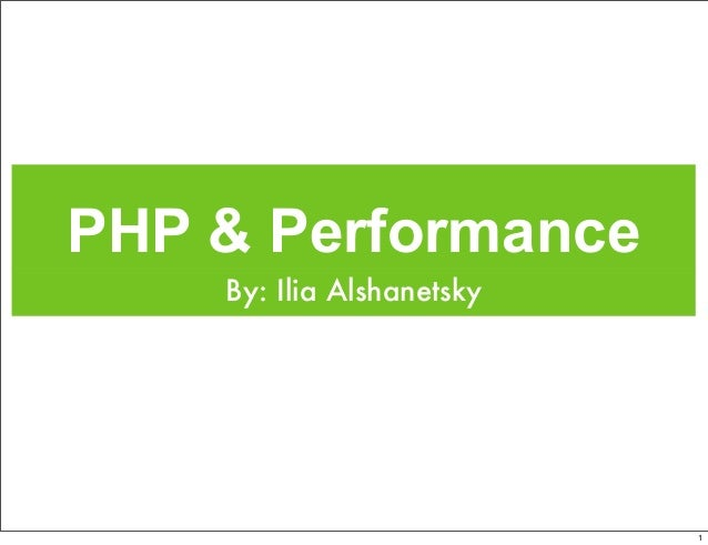 PHP & Performance