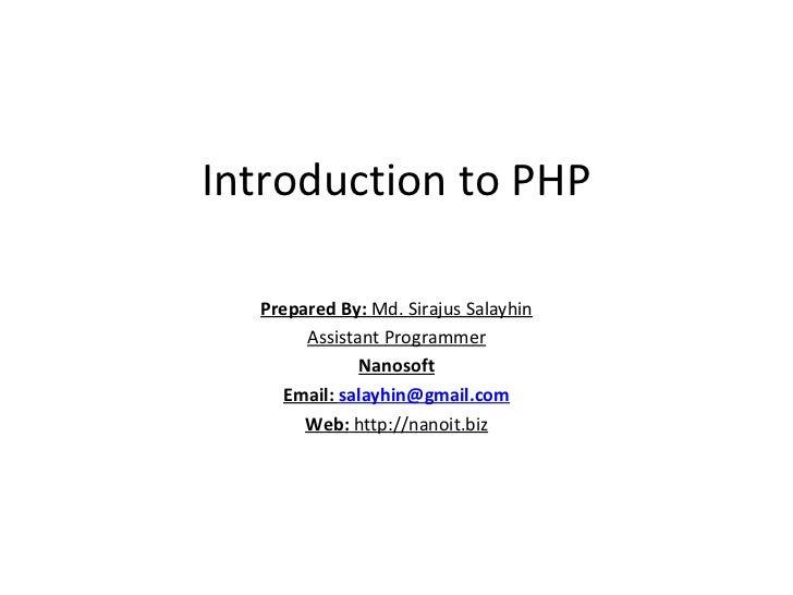 Php Basic