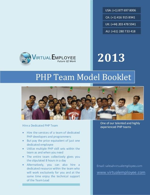 Php team model booklet