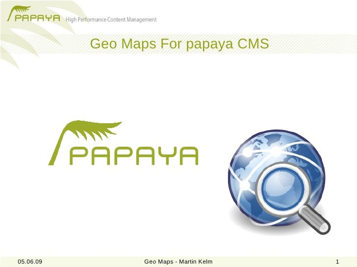 PHPUG - Geo Maps for papaya CMS
