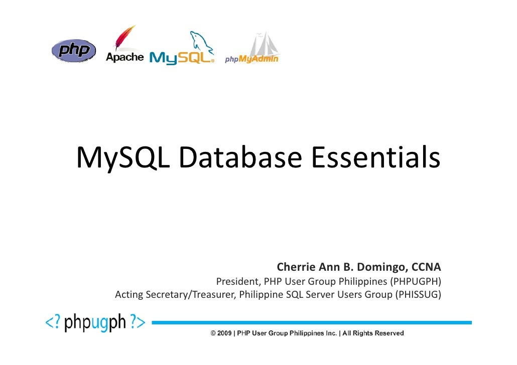 PHP Roadshow - MySQL Database Essentials