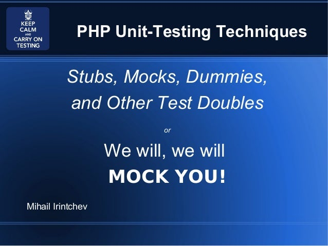 PHP Unit-Testing With Doubles