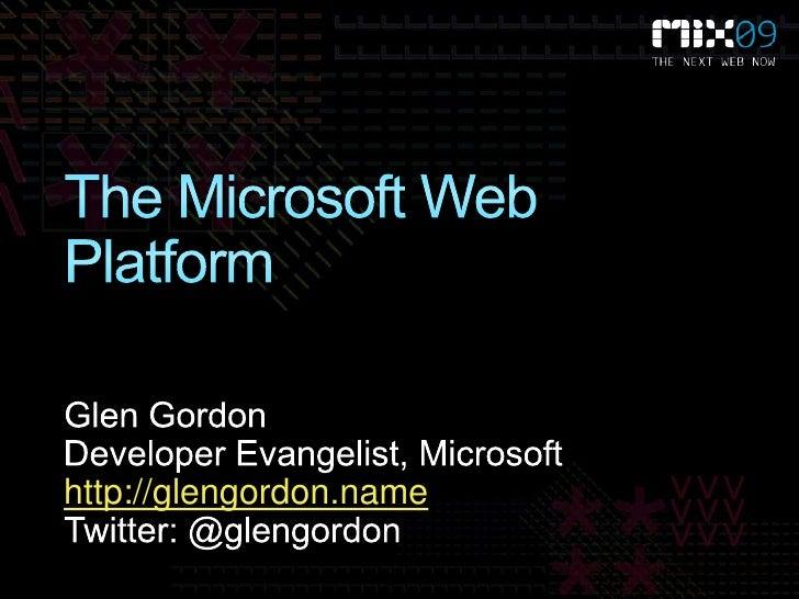 Microsoft Web Platform and Internet Explorer 8 for PHP developers