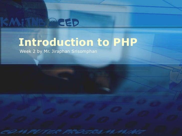 Php week 2