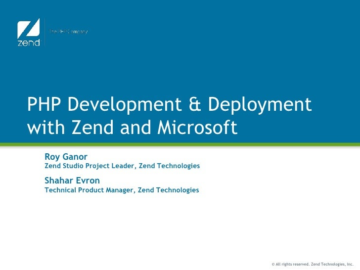 PHP and Zend Framework on Windows