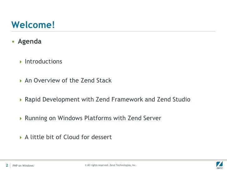 zend framework  windows 7