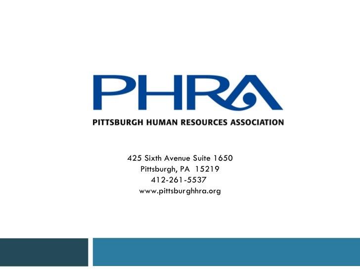 PHRA Pittsburgh Human Resources Association