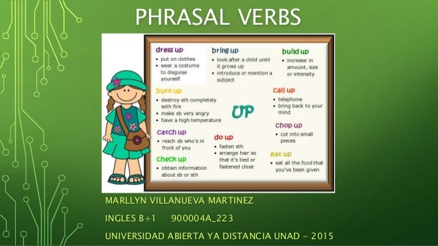 PHRASAL VERBS MARLLYN VILLANUEVA MARTINEZ INGLES B+1 900004A_223 UNIVERSIDAD ABIERTA YA DISTANCIA UNAD - 2015