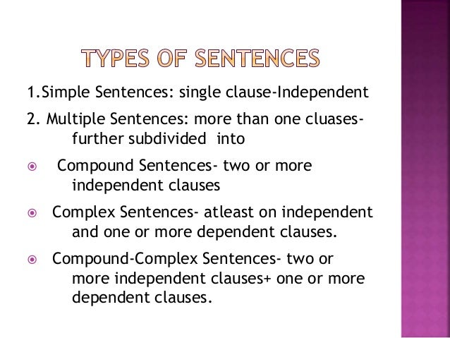 the independent elements of the sentence Online writing lab one or more independent clauses can be added together to form a compound sentence, and independent clauses can be added to dependent.