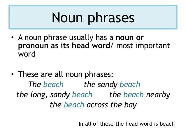 noun phrases in english